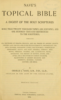 cover - Nave's Topical Bible
